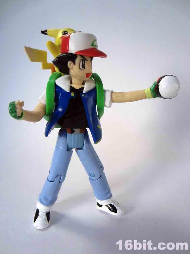 16bit Com Figure Of The Day Review Hasbro Pokemon Ash
