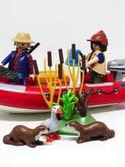 Playmobil Wild Life 5559 Inflatable Boat with Explorers