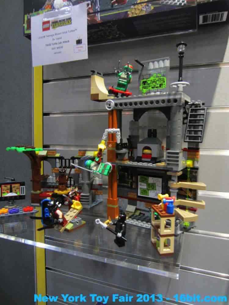 16bit.com: Toy Fair Coverage of LEGO Teenage Mutant Ninja
